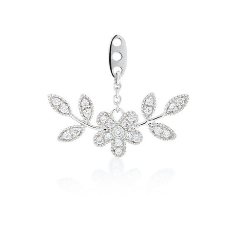 Diamond Fleurette Stud and Ear Jacket