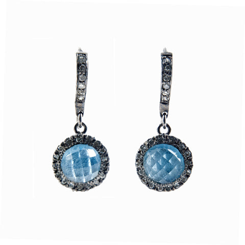 Dyanne Belle Aquamarine and Diamond earrings