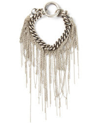 Goti Sterling Chain and Fringe Bracelet