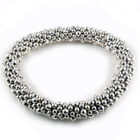 Meredith Frederick mirror and sterling beaded bangle