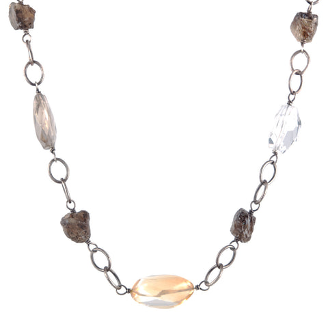 Beth Orduna sterling and stone necklace