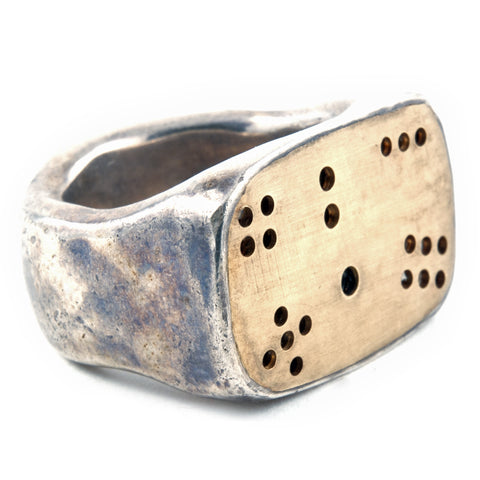 Gold Dice Ring