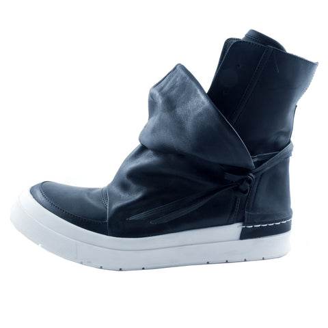 Cinzia Araia convertible black leather ankle sneaker