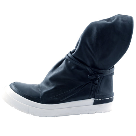 CA by Cinzia Araia black leather sneaker with ankle flap