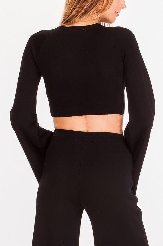 87-133LTL Ring The Bell Sweater, OLIVACEOUS, Sweater - Bobbi Rocco