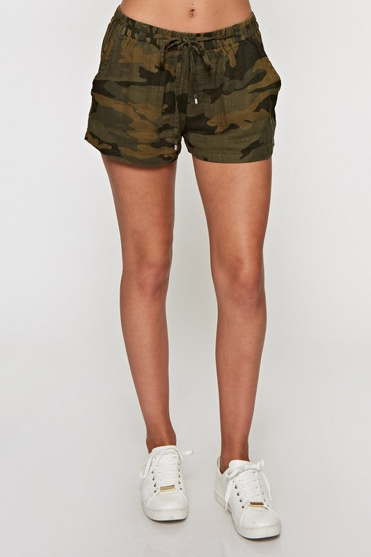 Camo Days Shorts, LOVE STITCH, Shorts - Bobbi Rocco