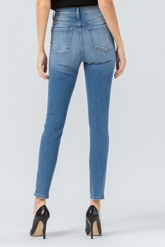 Super High Rise Ankle Skinny