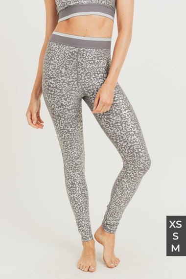 Silver Leopard Leggings