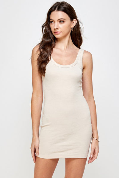 ID379 Ribbed Tank Dress