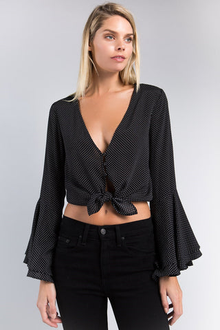 Bell Sleeve Up Or Down Top, SKYLAR + MADISON, Shirt - Bobbi Rocco