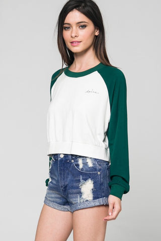 Baseball Long Sleeve Tee, HONEY PUNCH, Top - Bobbi Rocco