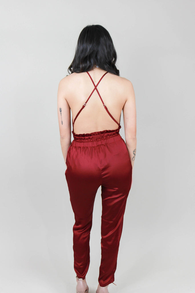 EP32149A Satin Jumpsuit