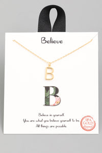 B Necklace