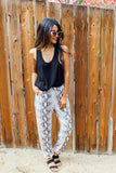 Printed Track Pant With Pockets