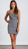 Striped Fitted Mini Dress With Back Tie, COTTON CANDY, Dress - Bobbi Rocco