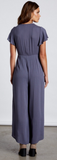 Short Sleeve Jumpsuit With Tie In Front, COTTON CANDY, Jumpsuit - Bobbi Rocco