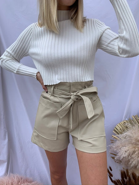 Boss Babe Faux Leather Shorts