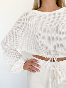 Drawstring Crop Top