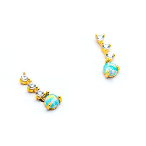 Opal Ear Climber Post, TAI, Earring - Bobbi Rocco