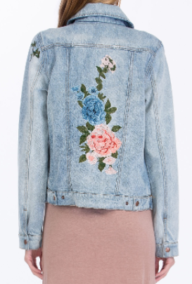 Roses Embroidered Denim Jacket 100 00