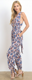 Leaf Jumpsuit With Low Front and Cross Back, HOMMAGE, Jumpsuit - Bobbi Rocco