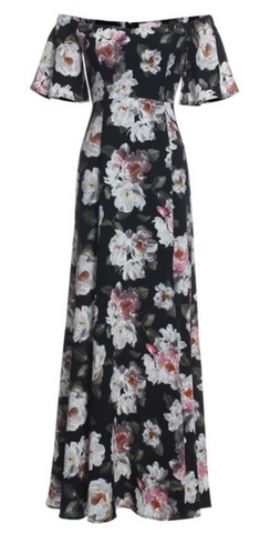 Floral Off The Shoulder Maxi Dress, RENAMED, Dress - Bobbi Rocco
