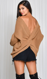 Low Twisted Back Sweater, BLUE BLUSH, Sweater - Bobbi Rocco