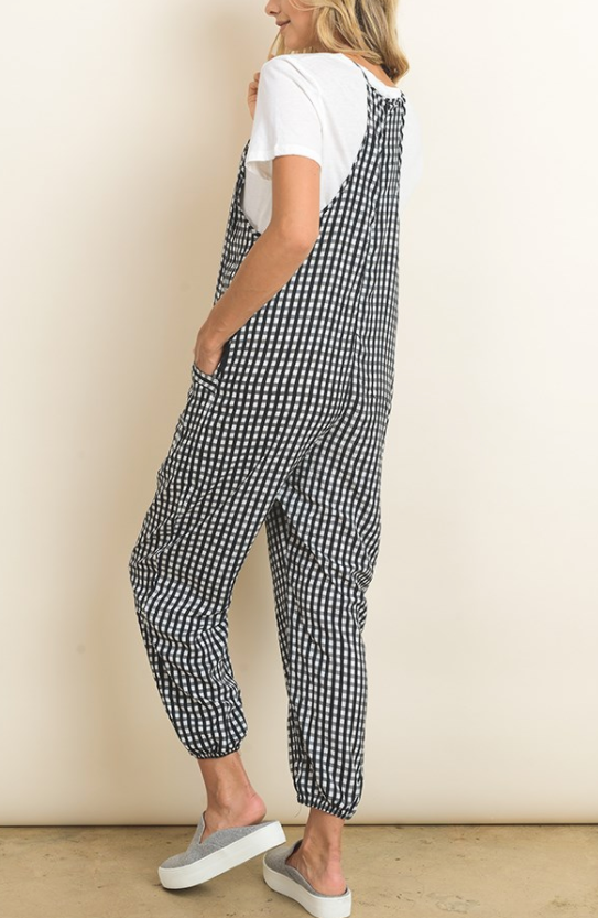 FP2093 Checkered Jumpsuit, DRESS FORUM, Jumpsuit - Bobbi Rocco
