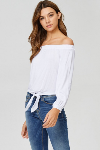 Tie Front Off The Shoulder Top, JOLIE, Top - Bobbi Rocco