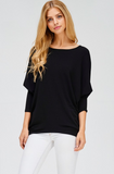 French Terry Dolman Sleeve Sweater, JOLIE, Sweater - Bobbi Rocco
