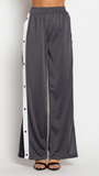 High Waisted Knit Flare Pants With Side Slit, ETOPHE STUDIOS, Pants - Bobbi Rocco