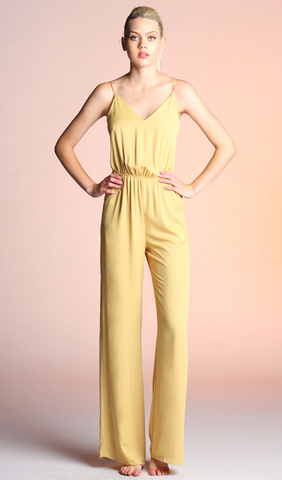 Golden Strappy Jumpsuit, TYCHE, Jumpsuit - Bobbi Rocco