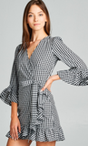 Three Quarter Sleeve Mini Dress, SKYLAR MADISON, Dress - Bobbi Rocco