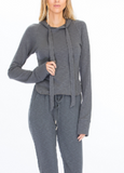 Tight Fitted Lounge Hoodie, OLIVACEOUS, Hoodie - Bobbi Rocco