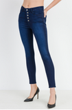 High Rise Button Down Skinny Jean