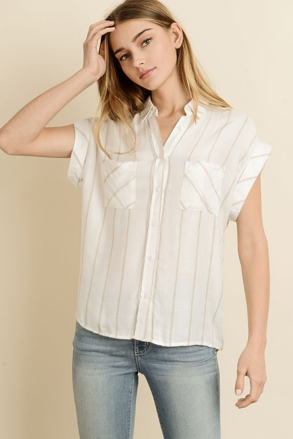 Stripe Open Shirt