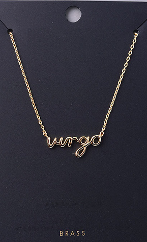 Handwritten Virgo Necklace, FAME, Jewelry - Bobbi Rocco