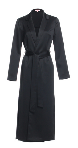 Long Trench Coat With Front Tie