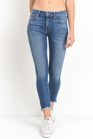 Hem Destroyed Skinny Jeans, JUST USA, Jeans - Bobbi Rocco