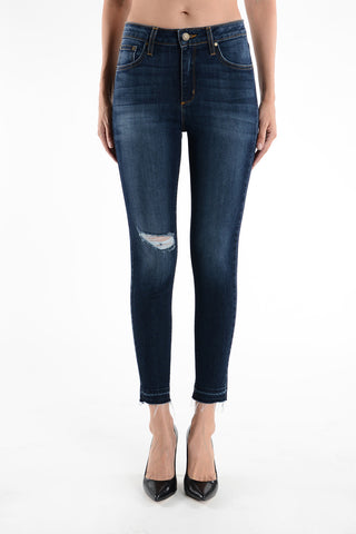 Destroyed Dark Jeans, JUST USA, Jeans - Bobbi Rocco