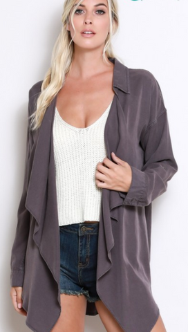 Draped Front Cardigan, WISHLIST, Top - Bobbi Rocco