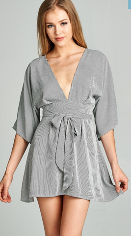 Kimono Style Mini Dress, SKYLAR + MADISON, Dress - Bobbi Rocco
