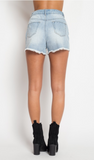 Destroyed High Waisted Shorts, ETOPHE STUDIOS, Shorts - Bobbi Rocco