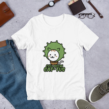 Load image into Gallery viewer, Call Meow Cat-Tus Unisex T-Shirt - Printed