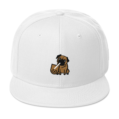 Boba and Pug Snapback Hat - Embroidered