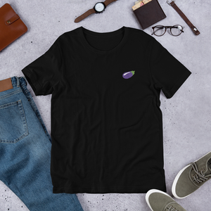 🍆 Eggplant Unisex T-Shirt - Embroidered