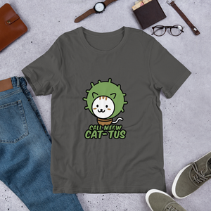 Call Meow Cat-Tus Unisex T-Shirt - Printed