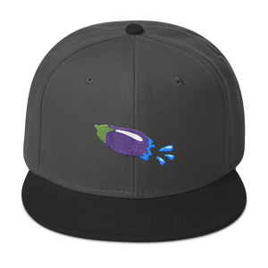The Eggplant Rocket Snapback Hat - Embroidered