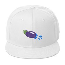 Load image into Gallery viewer, The Eggplant Rocket Snapback Hat - Embroidered