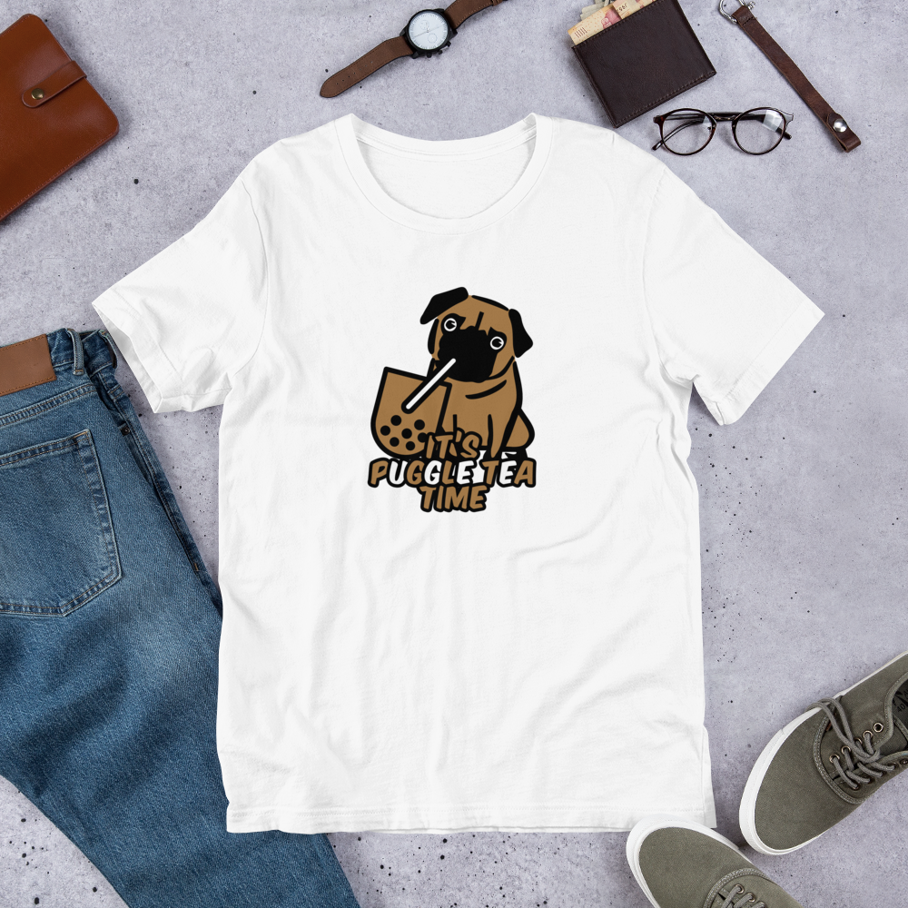 It's Puggle Tea Time Unisex T-Shirt - Printed